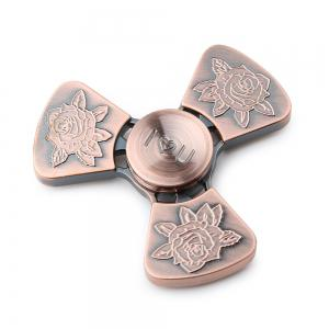 I Love You Rose Flower Tri-bar EDC Fidget Metal Spinner - Bronzed - 8