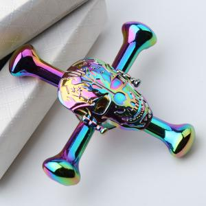 Colorful Skull Focus Gadget Fidget Hand Spinner - Coloré 7*7*1.5CM