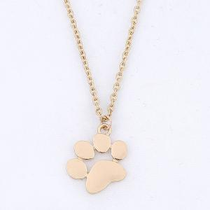 Little Dog Paw Shape Pendant Necklace