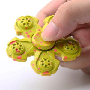 Metal High Speed Fidget Spinner For Adult or Kids - YELLOW 6.5*6.5*1.2CM
