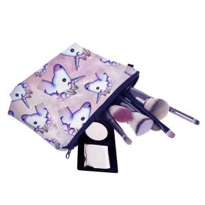 Animal Print Makeup Clutch Bag - PURPLE
