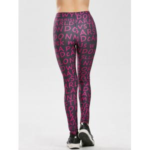 Allover Graphic Leggings - PURPLE 2XL