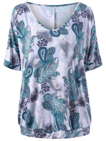 Cheap Plus Size Paisley T-shirt
