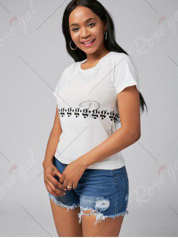 Sale Slim Fit Short Sleeve Graphic Tee - S WHITE Mobile