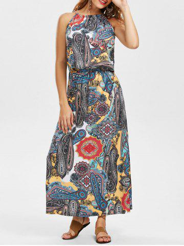 Maxi Printed Bohemian Beachwear Dress