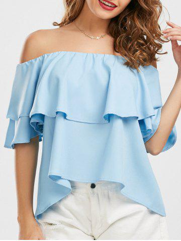 Hot Ruffle Off The Shoulder Blouse