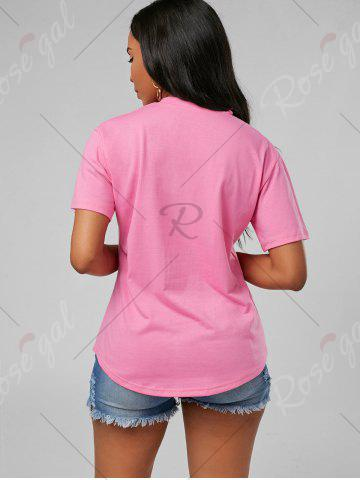 Store Plunging Neck Choker T Shirt - S PINK Mobile