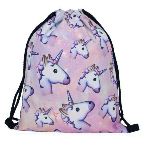 Sac à dos à motifs unicorps Multicolore