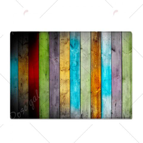 Chic Colorful Striped Pattern Water Absorption Flannel Area Rug - W16 INCH * L24 INCH COLORMIX Mobile