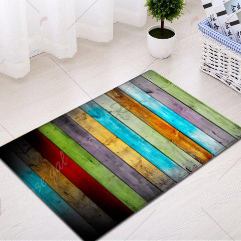 Shops Colorful Striped Pattern Water Absorption Flannel Area Rug - W16 INCH * L24 INCH COLORMIX Mobile