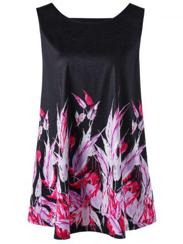 Latest Cut Out Feather Plus Size Tank Top