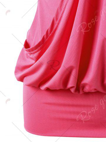 Hot Rhinestone Embellished Sleeveless Tight Dress - 2XL WATERMELON RED Mobile