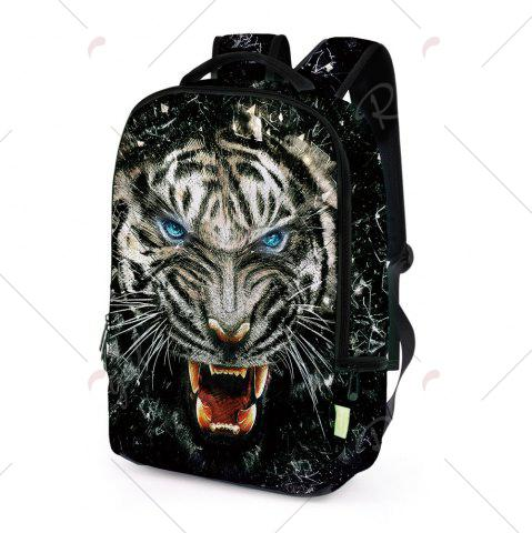 Outfits 3D Lion Printed Backpack - BLACK  Mobile