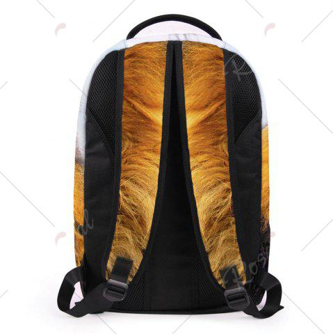 Cheap 3D Lion Printed Backpack - LIGHT BROWN  Mobile