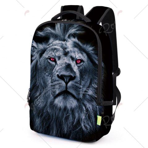 Cheap 3D Lion Printed Backpack - DEEP BLUE  Mobile