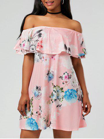 Chic Ruffle Floral Off The Shoulder Dress