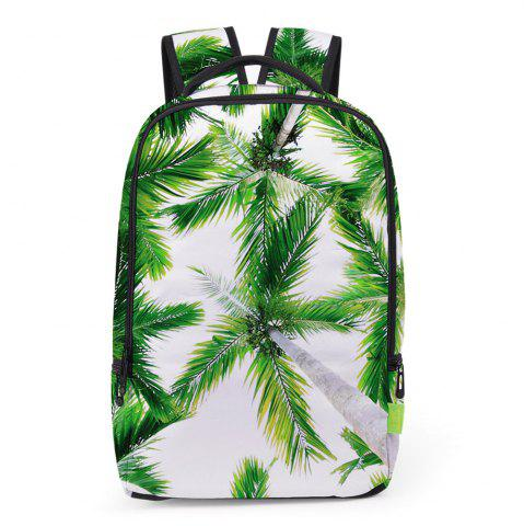 New Palm Print Padded Strap Backapck GREEN