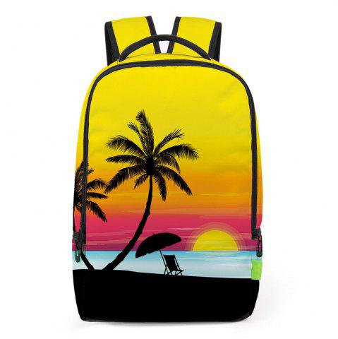 Trendy Palm Print Padded Strap Backpack