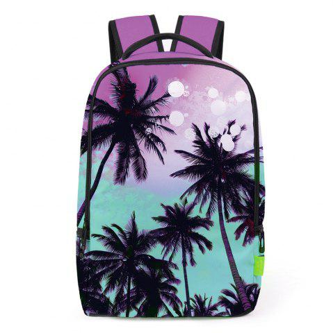 Shop Palm Print Padded Strap Backpack