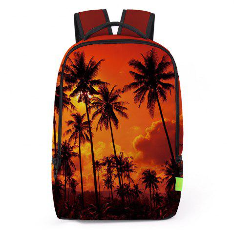 Hot Palm Print Padded Strap Backapck JACINTH