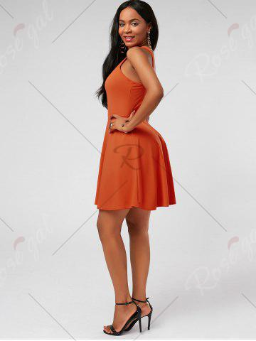 Shop High Neck Mini Fit and Flare Cocktail Dress - S JACINTH Mobile