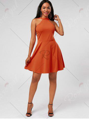 New High Neck Mini Fit and Flare Cocktail Dress - S JACINTH Mobile