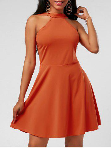 Outfit High Neck Mini Fit and Flare Cocktail Dress - S JACINTH Mobile