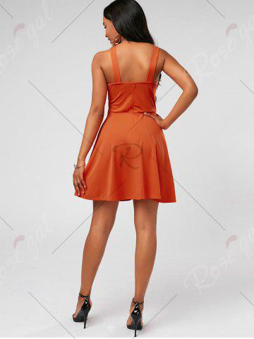 Hot High Neck Mini Fit and Flare Cocktail Dress - S JACINTH Mobile