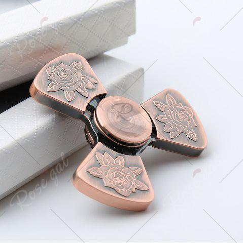 Affordable I Love You Rose Flower Tri-bar EDC Fidget Metal Spinner - BRONZED  Mobile