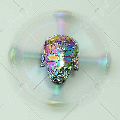 Latest Colorful Skull Focus Gadget Fidget Hand Spinner - 7*7*1.5CM COLORFUL Mobile