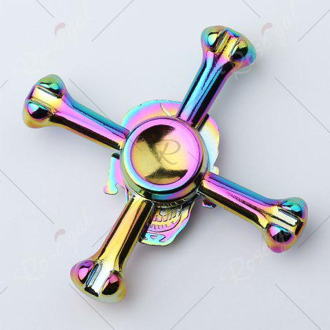 Chic Colorful Skull Focus Gadget Fidget Hand Spinner - 7*7*1.5CM COLORFUL Mobile