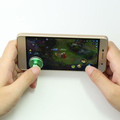 Chic Mobile Phone Anti Stress Game Controller Hand Spinner - 2.5*2.5CM GREEN Mobile