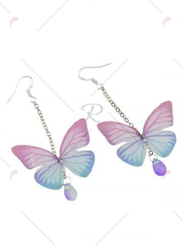 Buy Butterfly Drop Earrings with Acrylic Gem - PINK  Mobile