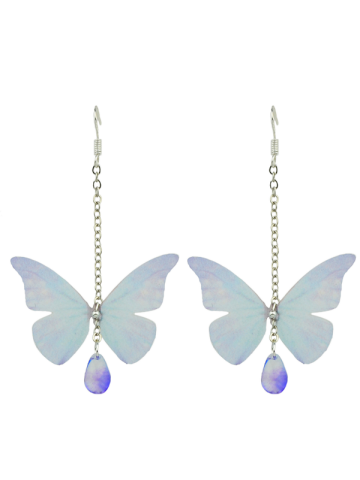 Buy Butterfly Drop Earrings with Acrylic Gem