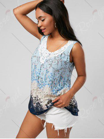 Buy Tiny Floral Criss Cross Top - XL PINKISH BLUE Mobile