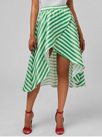 Shop Stripe High Low Skirt - XL MINT Mobile