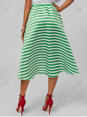 Discount Stripe High Low Skirt - XL MINT Mobile