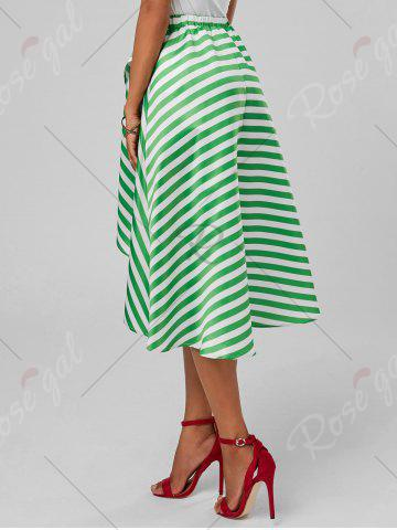 Hot Stripe High Low Skirt - XL MINT Mobile