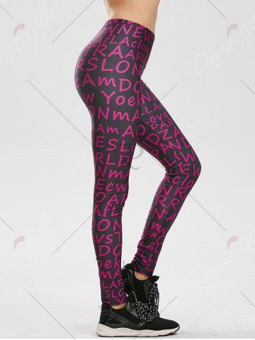 Outfits Allover Graphic Leggings - 2XL PURPLE Mobile