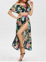 Off Shoulder Floral Flowy Three Piece Dress
