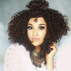 Medium Shaggy Free Part Afro Curly Synthetic Wig