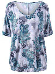 Plus Size Paisley T-shirt -