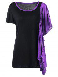 Butterfly Sleeve Plus Size Ringer T-shirt