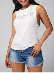 Letter Print Casual Tank Top
