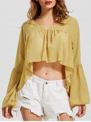 Sheer Chiffon High Low Top