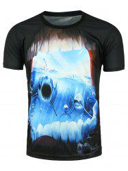 Short Sleeve 3D Shark Printed T-shirt