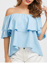 Ruffle Off The Shoulder Blouse -