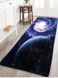 Flannel Skidproof Bath Rug with Galaxy Print