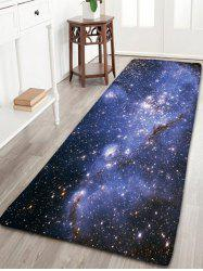 Milky Way Print Flannel Skidproof Bath Rug