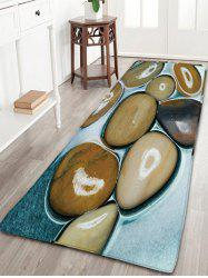 Flannel Water Absorption Stone Pattern Bathroom Rug